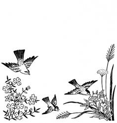 antique corner design engravings vector image vector image