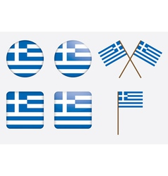 badges with flag of Greece vector image