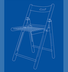 folding chair sketch vector image