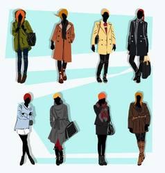 london fashion street model fall vector image vector image