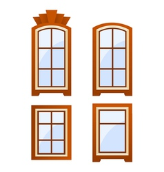 window icons vector image vector image