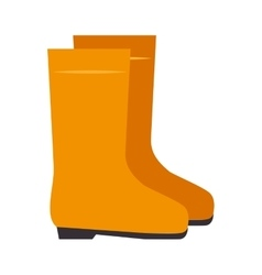yellow boots industrial security equipment vector image