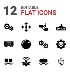 12 motion icons vector