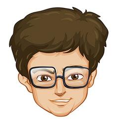 A head of a man vector image