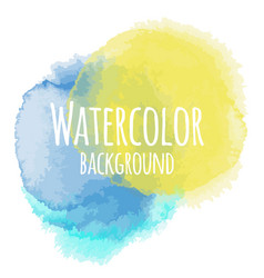 Abstract watercolor background blue and yellow vector