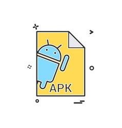 Apk file file extension file format icon design vector
