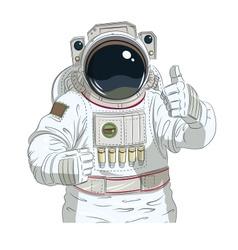 Astronaut gesture okay vector