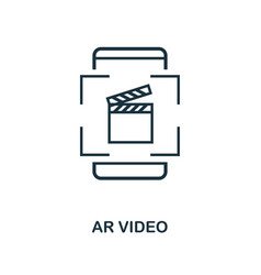 augmented reality video icon monochrome style vector image