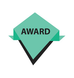 Award label design black green vector