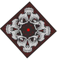 Bandana with skull vector