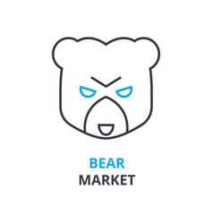 bear market concept outline icon linear sign vector image