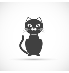 Black cat icon vector image