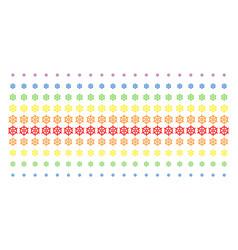 boat steering wheel shape halftone spectrum effect vector image