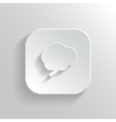 Brain icon - white app button vector