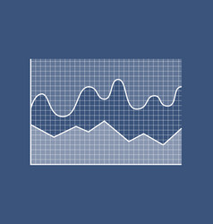 business data chart poster vector image