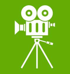 camcorder icon green vector image