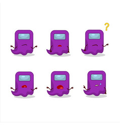 Cartoon character ghost among us purple vector