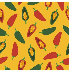 chilli pepper pattern vector image