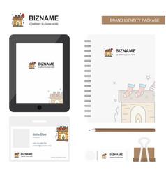 Chimney business logo tab app diary pvc employee vector