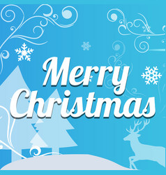 christmas typographical on background vector image