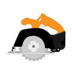 Circular saw woodworking vector