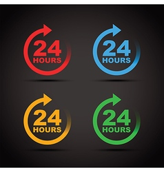 Colour set 24 hours vector