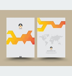 Cover template front and back triangle pattern vector