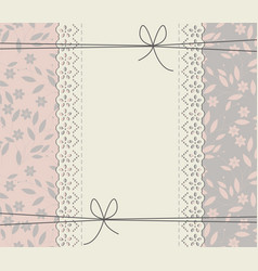 creative lace frame with stylish flowers and vector image