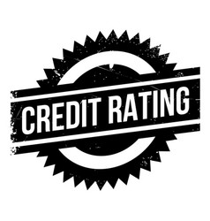 Credit rating rubber stamp vector