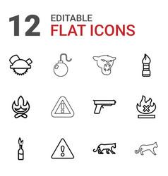 Dangerous icons vector