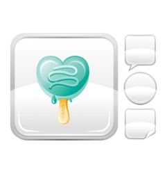 Dessert food icon with mint ice cream cone and vector