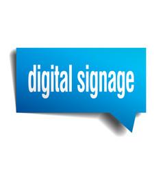Digital signage blue 3d speech bubble vector