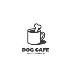 Dog cafe logo vector
