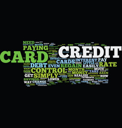 five simple ways to regain credit card control vector image