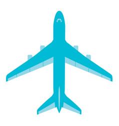 flying passenger plane on a white background vector image