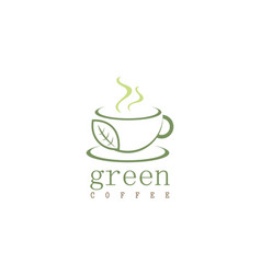 green coffee logo vector image