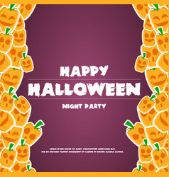 happy halloween background banner pumpkins vector image