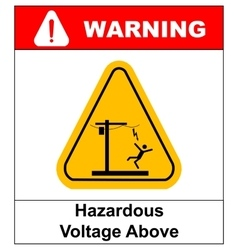Hazardous voltage above warning banner vector