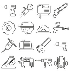 icons on the theme of construction supplies on a vector image