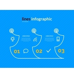 Infographic with circles pointers 3 steps vector image