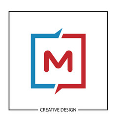 initial letter m logo template design vector