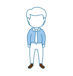 Isolated office man standing vector