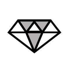 Line luxury diamond cristal gem vector