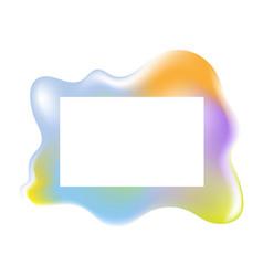Multicolored shiny blob fluid background vector