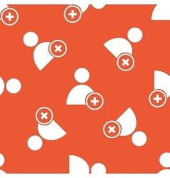 Orange add user pattern vector