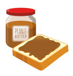 peanut butter spread on a bread vector image