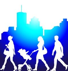pedestrians vector image