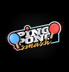 Ping pong mascot modern professional sport vector