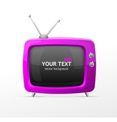 pink retro TV vector image