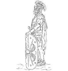 Roman soldier legionnaire vector